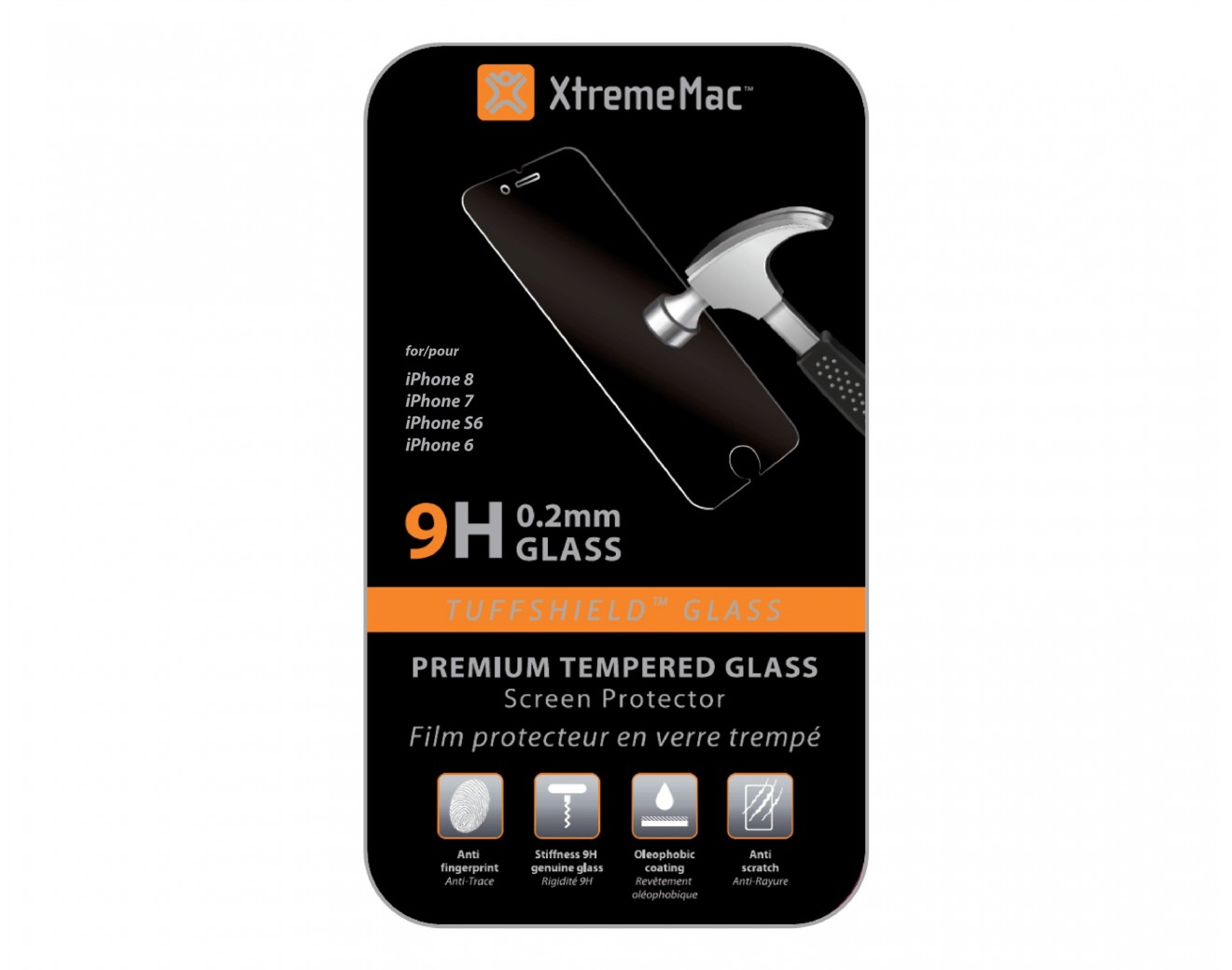 Закалено стъкло XtremeMac Tuffshield Tempered Glass(0.2 mm) за