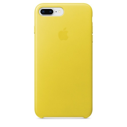 Калъф Apple iPhone 8 Plus / iPhone 7 Plus Leather Case - Spring Yellow