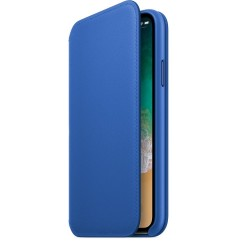 Калъф Apple IPhone X Leather Folio - Electric Blue