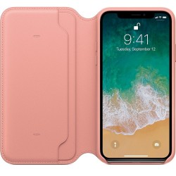 Калъф Apple IPhone X Leather Folio - Soft Pink