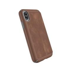 Калъф Speck Presidio Folio Leather iPhone X Case - Saddle