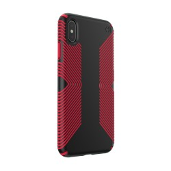 Калъф Speck iPhione XS Max PRESIDIO GRIP - BLACK/DARK POPPY RED