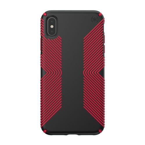 Калъф Speck iPhone XS Max PRESIDIO GRIP - BLACK/DARK POPPY RED