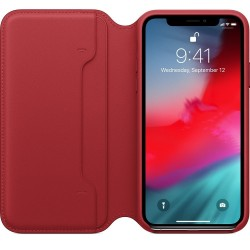 Apple iPhone XS Leather Folio - (PRODUCT)RED