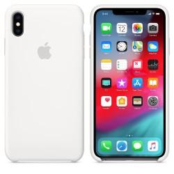 Apple iPhone XS Max Silicone Case - White