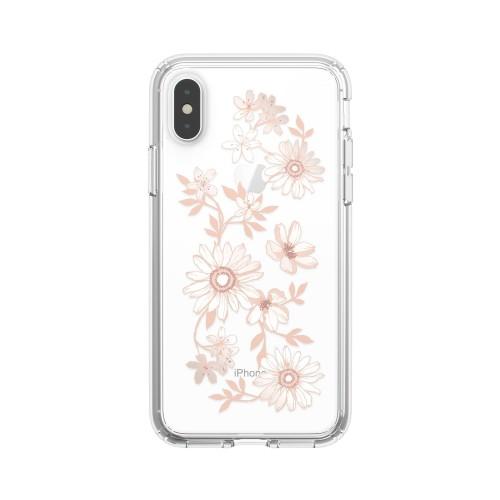 Калъф Presidio Clear + Print iPhone XS / X Cases - Fairytalefloral Peach Gold/Clear