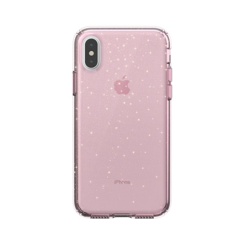 Калъф Presidio Clear + Print iPhone XS / X Cases - Bella Pink With Gold Glitter/Bella Pink