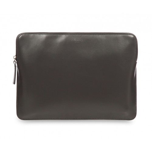Кожен калъф Knomo Leather Zip Sleeve - Slate
