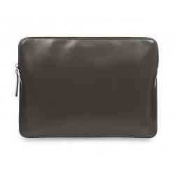 Кожен калъф Knomo Leather Zip Sleeve - Slate