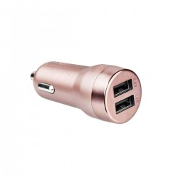 Зарядно за кола Artwizz Carplug Double - Rose Gold